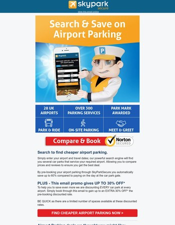 Up to 30% OFF Airport Parking ✈️