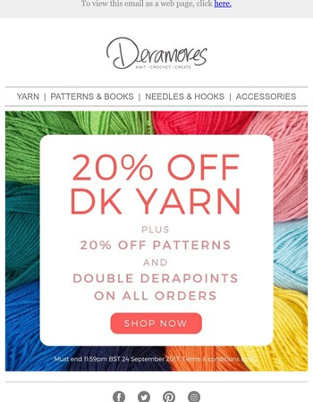 20% Off DK Starts Now PLUS Double Derapoints On All Orders