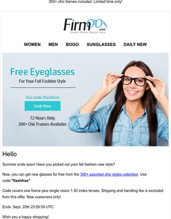 Free Glasses For Your Fall New Style