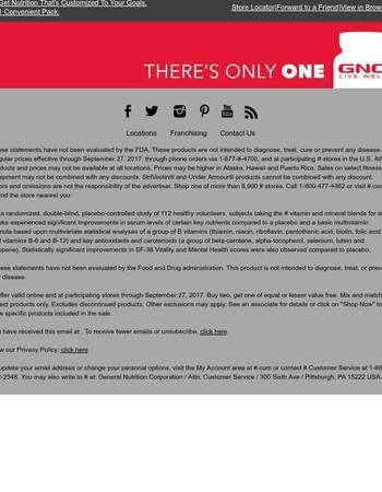 Customized. Complete. GNC Vitapaks.