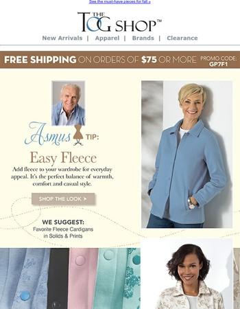 Asmus Tip : Easy Fleece!