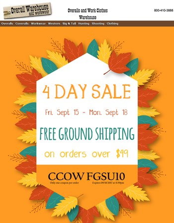 LAST DAY! 4 Days of FREE GROUND SHIPPING over $49!