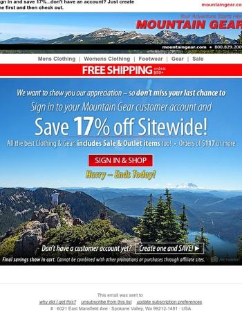 Final chance to take advantage on site-wide savings