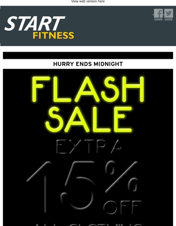 Hurry - EXTRA 15% Off Clothing Code Must End Midnight....