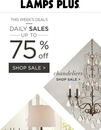 Spotlight on Savings: Chandeliers, Lamps and More!