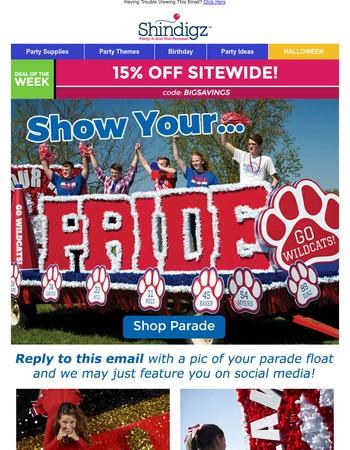 Show Your Homecoming Parade Pride