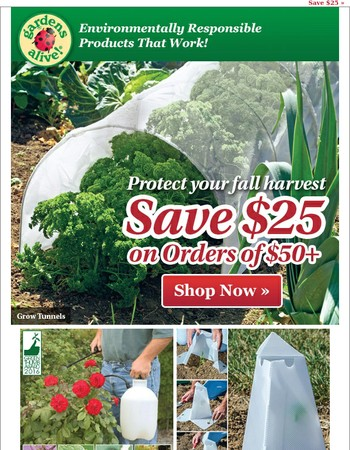 Save $25 on frost and pest protection