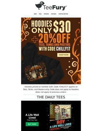 SALE: Load up on $30 Hoodies