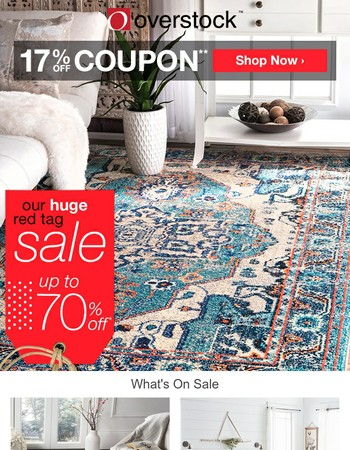 How Will You Use Your 17% off Coupon? Check Out the Red Tag Sale and Save BIG!