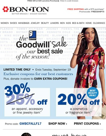 Save on Dresses from Brands You ❤ During the Goodwill Sale