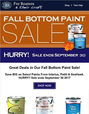 Bottom Paint Sale Starts Now!