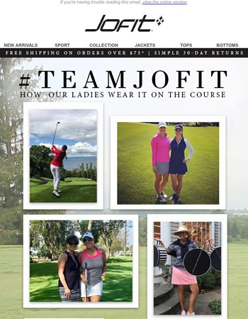 Spotted: #TeamJofit On The Course