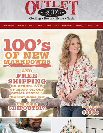 Even More New Markdowns! And it ships for free!*