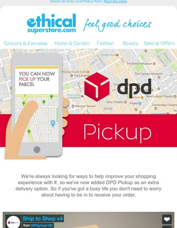 NEW: Collect Orders From A DPD Pickup Point