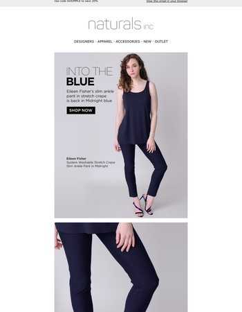 Into The Blue - An Eileen Fisher Favorite Is Back + Save 20%