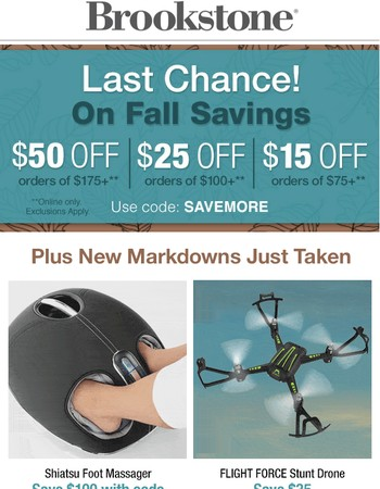 Don't Let The Savings Fly By....Up to $50 off Ends Today.
