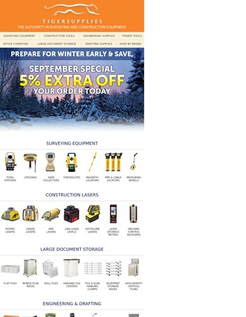 Prepare for Winter Now!  Save Today