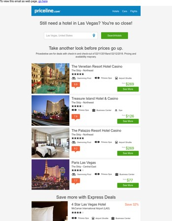 Unbelievable deals in Las Vegas, United States from $50 - Limited time only!