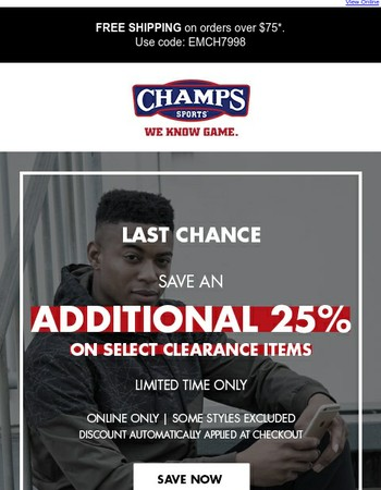 Ending Soon – 25% off Clearance Event
