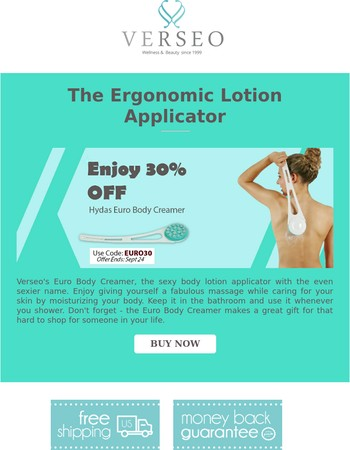 Sexy body lotion applicator 30% OFF