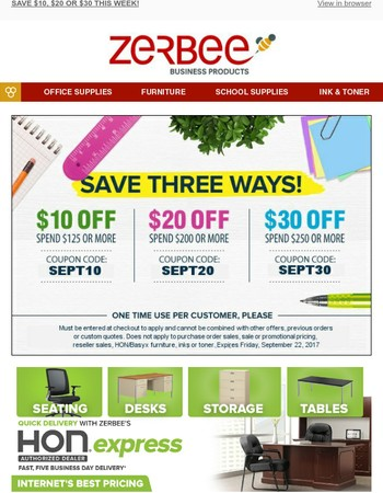 Take Up To $30 Off This Week @ Zerbee