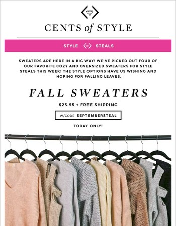 Cents of Style Newsletter