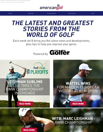 Leishman wins BMW Championship |  Pre-order TaylorMade P790 Irons