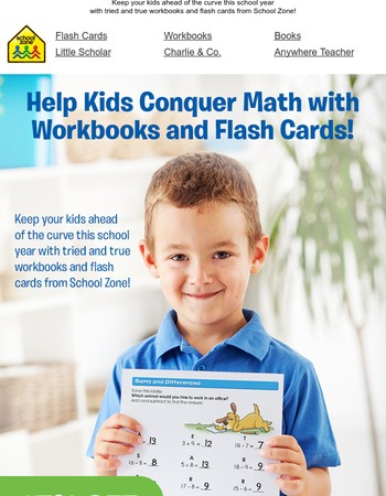 Help Kids Conquer Math with Workbooks and Flash Cards!