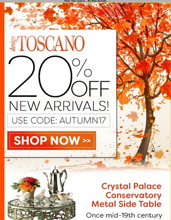 20% Off New Arrivals - Hurry Ends Tonight!!