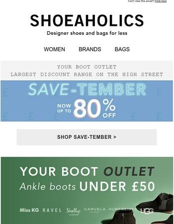 Your fave ankle boots under £50! Miss KG, Ravel, Shellys & Carvela