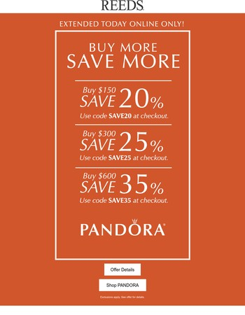 Extended 1 More Day!  Save Up To 35% Off PANDORA + Limited Edition Earrings