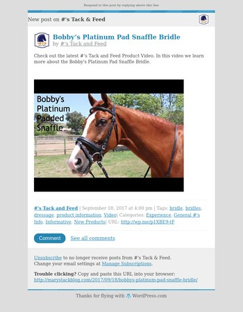 [New post] Bobby's Platinum Pad Snaffle Bridle
