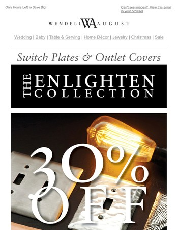 LAST DAY   30% Off Switch Plates and Outlet Covers