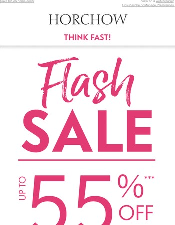 FLASH SALE! Up to 55% off until 5pm CT only