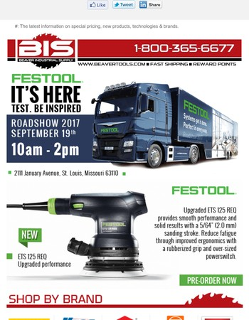 Festool road show is here!
