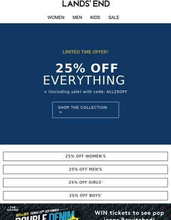 Catch 25% off EVERYTHING before it ends + enter our fab competition!