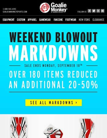 HOURS LEFT! Weekend Blowout Markdowns - Over 180 Items Reduced!