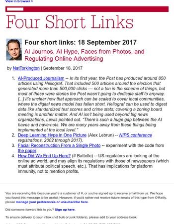 Four short links: 18 September 2017
