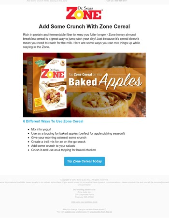 6 Different Ways to Use Zone Cereal