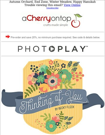 New From Photoplay! Pre-Order & Save 20%
