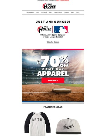 The House Announces Partnership with Major League Baseball