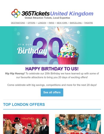 It's Our 20th Birthday - Exclusive offers inside