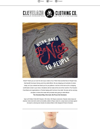 CLE Clothing Co. Newsletter: Shipping Status...