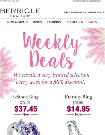 You've been waiting for this $37.45 Three-Stone Ring!