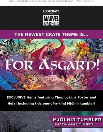 By Asgard, the gods have blessed this newest loot!
