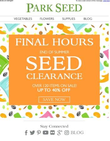 Final Hours to Save Big!