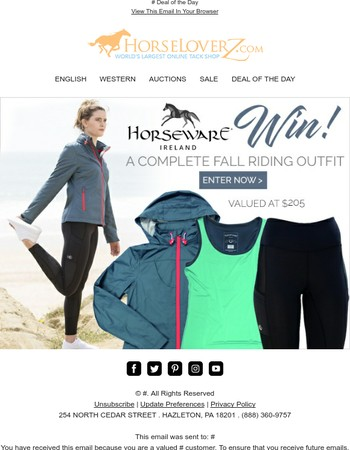 Enter to Win! Complete Horseware Fall Riding Outfit