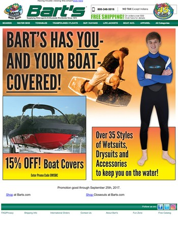 Time To Upgrade Your Boat Cover and Wetsuit