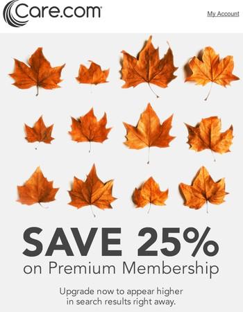 Last hours: Fall for savings.