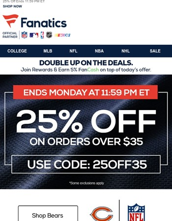 BEAT THE CLOCK: 25% Off Ends Midnight ET